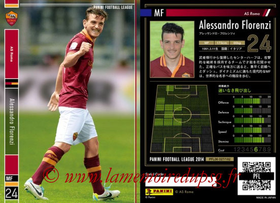 Panini Football League 2014 - PFL06 - N° 027 - Alessandro FLORENZI (AS Roma)