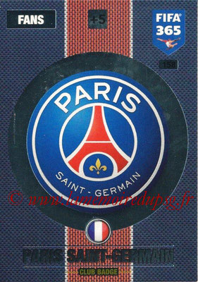2016-17 - Panini Adrenalyn XL FIFA 365 - N° 158 - Logo Paris Saint-Germain (Club Badge)