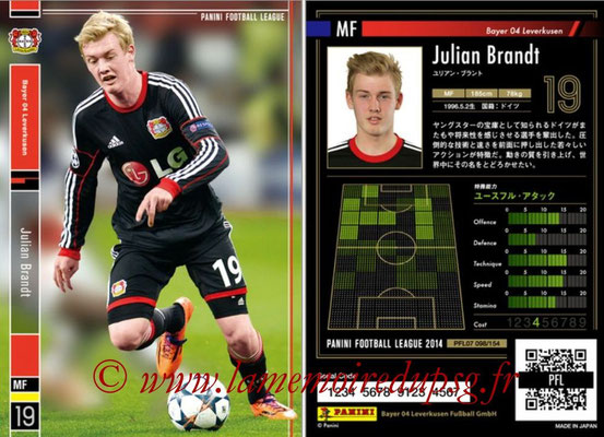 Panini Football League 2014 - PFL07 - N° 098 - Julian BRANDT (Bayer Leverkusen)