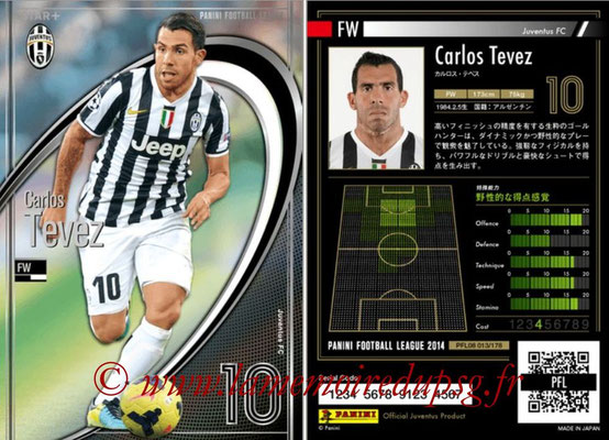 Panini Football League 2014 - PFL08 - N° 013 - Carlos TEVEZ (Juventus FC) (Star +)