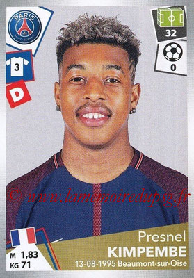 2017-18 - Panini Ligue 1 Stickers - N° 368 - Presnel KIMPEMBE (Paris Saint-Germain)