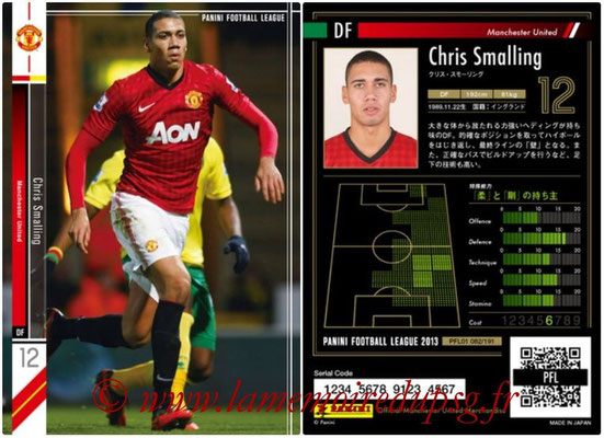 Panini Football League 2013 - PFL01 - N° 082 - Chris Smalling ( Manchester United  )