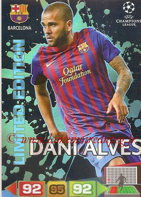 2011-12 - Panini Champions League Cards - N° LE04 - Dani ALVES (FC Barcelone) (Limited Editon)