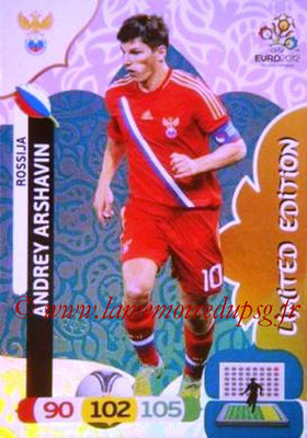 Panini Euro 2012 Cards Adrenalyn XL - N° LE44 - Andrey ARSHAVIN (Russie) (Limited Edition)