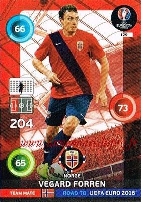 Panini Road to Euro 2016 Cards - N° 129 - Vegard FORREN (Norvège)