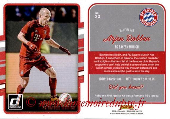 2016 - Panini Donruss Cards - N° 033 - Arjen ROBBEN (FC Bayern Munich)