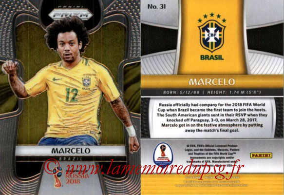 2018 - Panini Prizm FIFA World Cup Russia - N° 031 - MARCELO (Bresil)