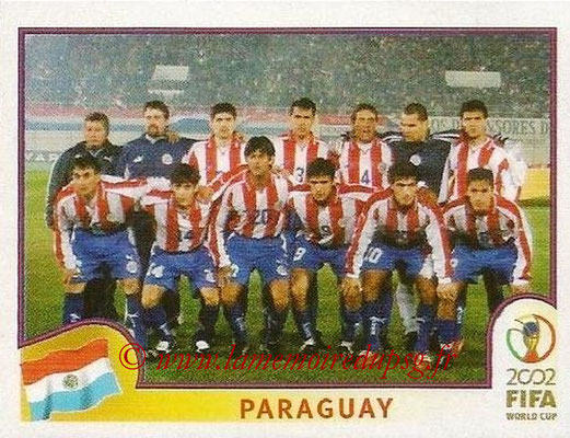 2002 - Panini FIFA World Cup Stickers - N° 133 - Equipe Paraguay