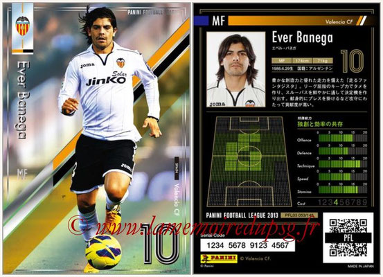 Panini Football League 2013 - PFL03 - N° 053 - Ever Banega (FC Valence)