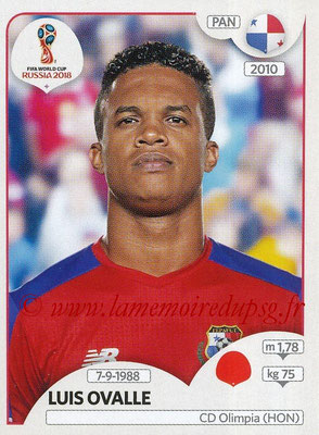 2018 - Panini FIFA World Cup Russia Stickers - N° 541 - Luis OVALLE (Panama)