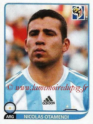 2010 - Panini FIFA World Cup South Africa Stickers - N° 112 - Nicolas OTAMENDI (Argentine)