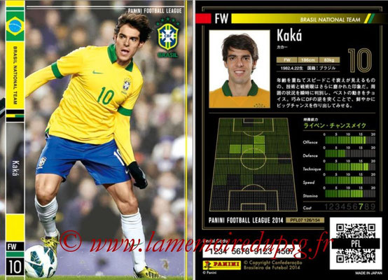 Panini Football League 2014 - PFL07 - N° 126 - KAKA (Bresil)
