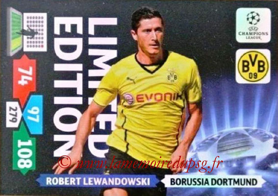 2013-14 - Adrenalyn XL champions League N° LE25 - Robert LEWANDOWSKI (Borussia Dortmund) (Limited Edition)