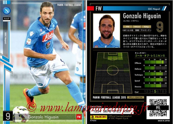 Panini Football League 2015 - PFL11 - N° 024 - Gonzalo HIGUAIN (SSC Naples)