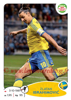 2014 - Panini Road to FIFA World Cup Brazil Stickers - N° 352 - Zlatan IBRAHIMOVIC (Suède)
