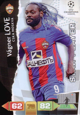 2011-12 - Panini Champions League Cards - N° 104 - Vagner LOVE (CSKA Moscou) (Star Player)