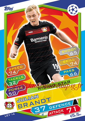 2016-17 - Topps UEFA Champions League Match Attax - N° LEV14 -  Julian BRANDT (Bayer 04 Leverkusen) (Rising Star)