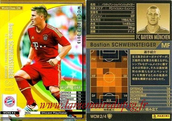 2012-13 - WCCF - N° WCM2 - Bastian SCHWEINSTEIGER (FC Bayern Munich) (World Class CM)