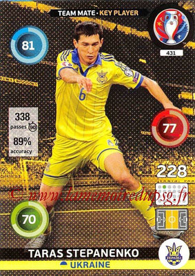 Panini Euro 2016 Cards - N° 431 - Taras STEPANENKO (Ukraine) (Key Player)