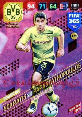 2017-18 - Panini FIFA 365 Cards - N° 421 - Sokratis PAPASTATHOPOULOS (Borussia Dortmund) (Defensive Rock)