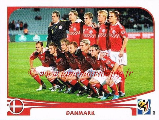 2010 - Panini FIFA World Cup South Africa Stickers - N° 353 - Équipe Dannemark