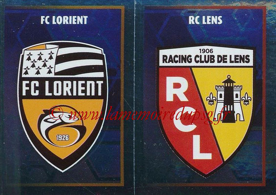2017-18 - Panini Ligue 1 Stickers - N° 553 - Ecussons RC Lens + FC Lorient