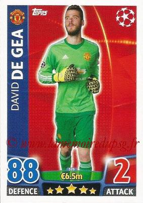 2015-16 - Topps UEFA Champions League Match Attax - N° 325 - David DE GEA (Manchester United)