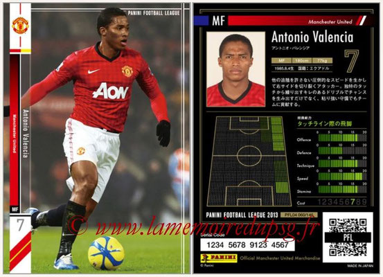 Panini Football League 2013 - PFL04 - N° 060 - Antonio VALENCIA (Manchester United)