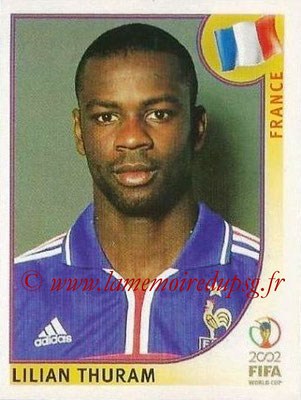 2002 - Panini FIFA World Cup Stickers - N° 028 - Lilian THURAM (France)