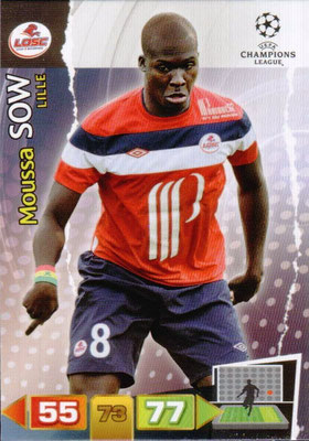 2011-12 - Panini Champions League Cards - N° 130 - Moussa SOW (Lille)