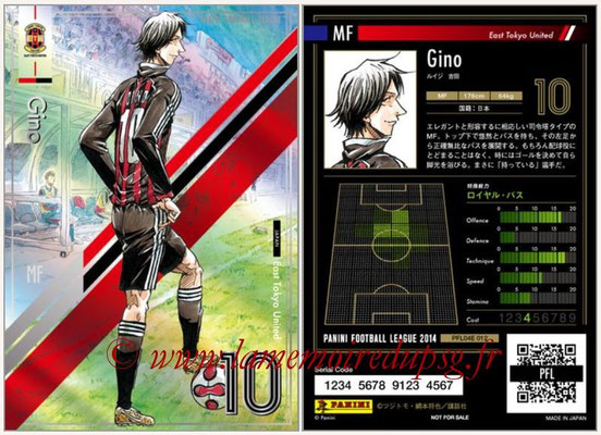 Panini Football League 2014 - PFL04E - N° 012 - Gino (East Tokyo United)