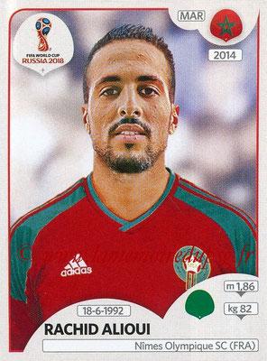 2018 - Panini FIFA World Cup Russia Stickers - N° 169 - Rachid ALIOUI (Maroc)
