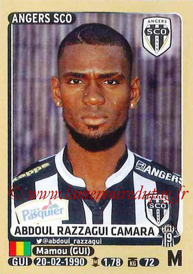 2015-16 - Panini Ligue 1 Stickers - N° 037 - Abdoul RAZZAGERI CAMARA (SCO Angers)