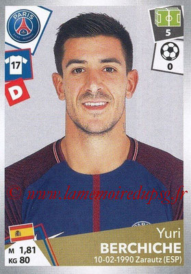 2017-18 - Panini Ligue 1 Stickers - N° 367 - Yuri BERCHICHE (Paris Saint-Germain)