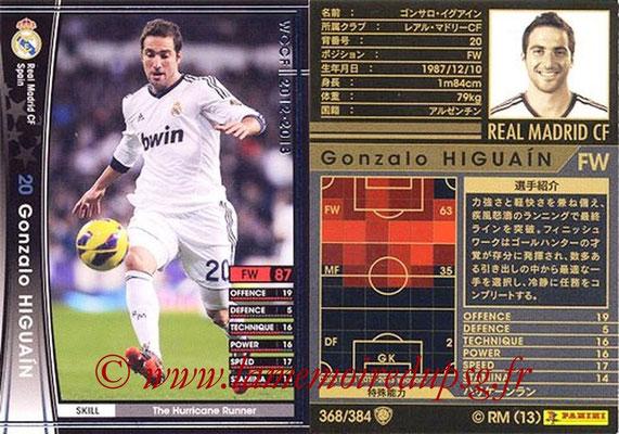 2012-13 - WCCF - N° 368 - Gonzalo HIGUAIN (Real Madrid CF)