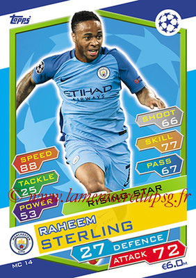 2016-17 - Topps UEFA Champions League Match Attax - N° MC14 - Raheem STERLING (Manchester City FC) (Rising Star)