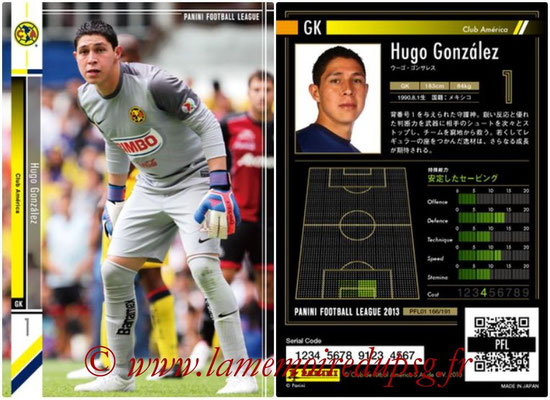 Panini Football League 2013 - PFL01 - N° 166 - Hugo Gonzalez ( Club America )