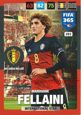 2016-17 - Panini Adrenalyn XL FIFA 365 - N° 283 - Marouane FELLAINI (Belgique) (International Star)