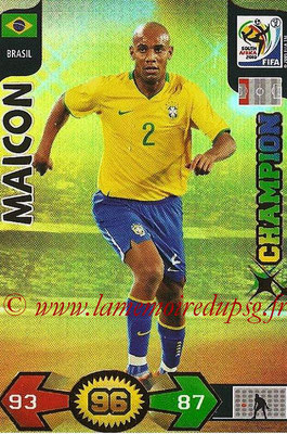 2010 - Panini FIFA World Cup South Africa Adrenalyn XL - N° 048 - MAICON (Bresil) (Champion)