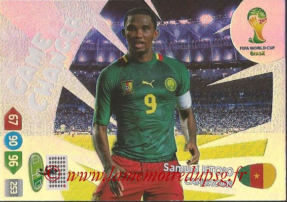 2014 - Panini FIFA World Cup Brazil Adrenalyn XL - N° 392 - Samuel ETO'O (Cameroun) (Game Changer)