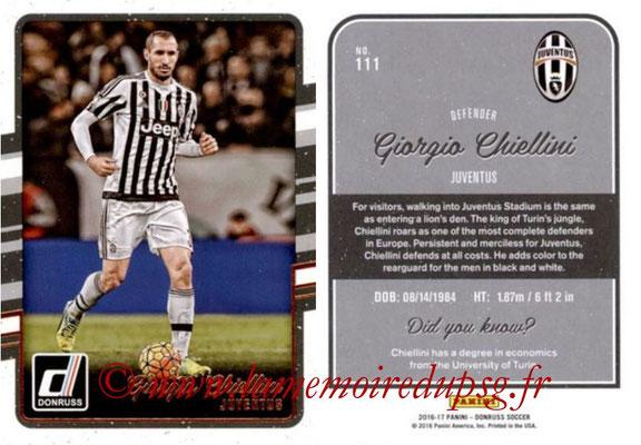 2016 - Panini Donruss Cards - N° 111 - Giorgio CHIELLINI (Juventus FC)