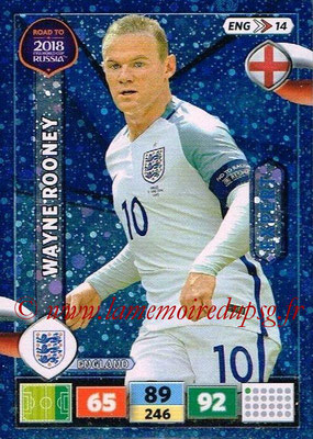 2018 - Panini Road to FIFA World Cup Russia Adrenalyn XL - N° ENG14 - Wayne ROONEY (Angleterre) (Expert)