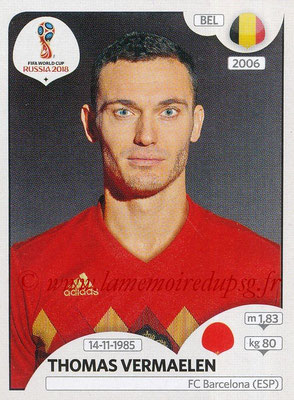 2018 - Panini FIFA World Cup Russia Stickers - N° 516 - Thomas VERMAELEN (Belgique)