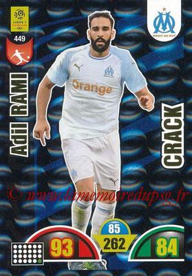 2018-19 - Panini Adrenalyn XL Ligue 1 - N° 449 - Adil RAMI (Marseille) (Crack)