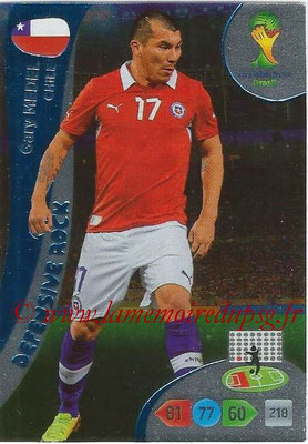 2014 - Panini FIFA World Cup Brazil Adrenalyn XL - N° 365 - Gary MEDEL (Chili) (Defensive Rock)