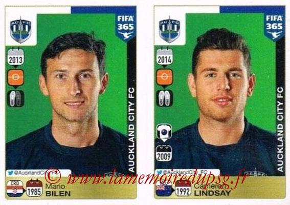 2015-16 - Panini FIFA 365 Stickers - N° 680-681 - Mario BILEN + Cameron LINDSAY (Auckland City FC)