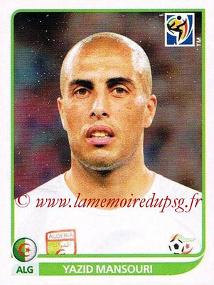 2010 - Panini FIFA World Cup South Africa Stickers - N° 229 - Yazid MANSOURI (Algérie)