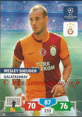 2013-14 - Adrenalyn XL champions League N° 143 - Wesley SNEIJDER (Galatasaray AS)