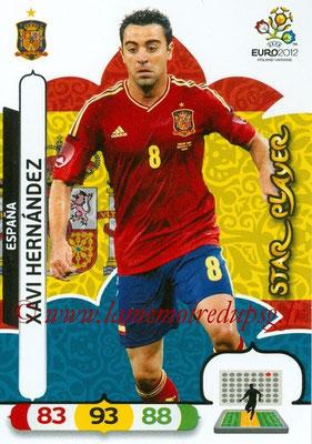 Panini Euro 2012 Cards Adrenalyn XL - N° 065 - Xavi HERNANDEZ (Espagne) (Star Player)