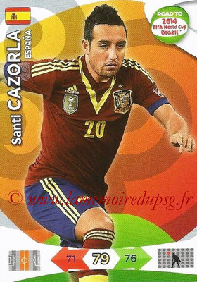 2014 - Panini Road to FIFA World Cup Brazil Adrenalyn XL - N° 080 - Santi CAZORLA (Espagne)